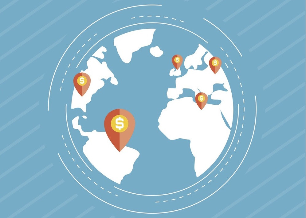 Hot spots on globe