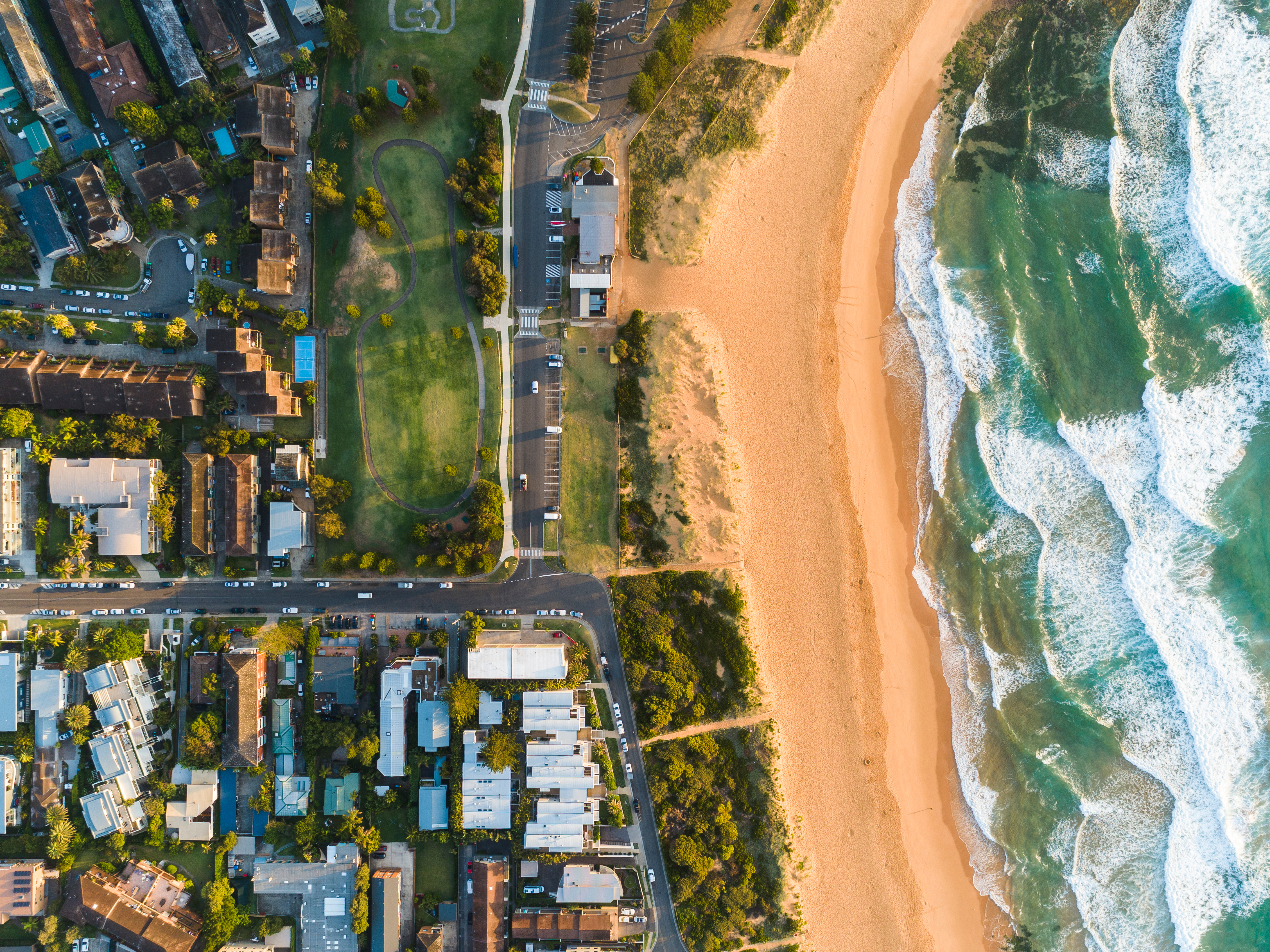 Aerial view of houses in Sydney